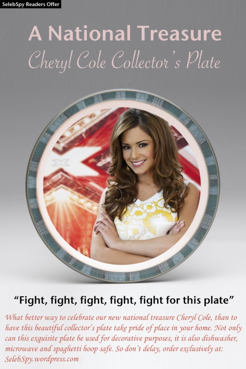 Cheryl Cole X Factor Plate