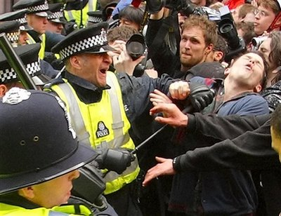 Lost Fans and Policeman Clash