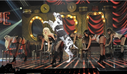 Christina Aguilera X Factor Seleb Spy 2010