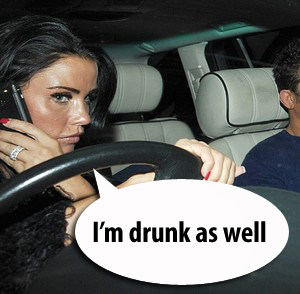 Katie Price Driving