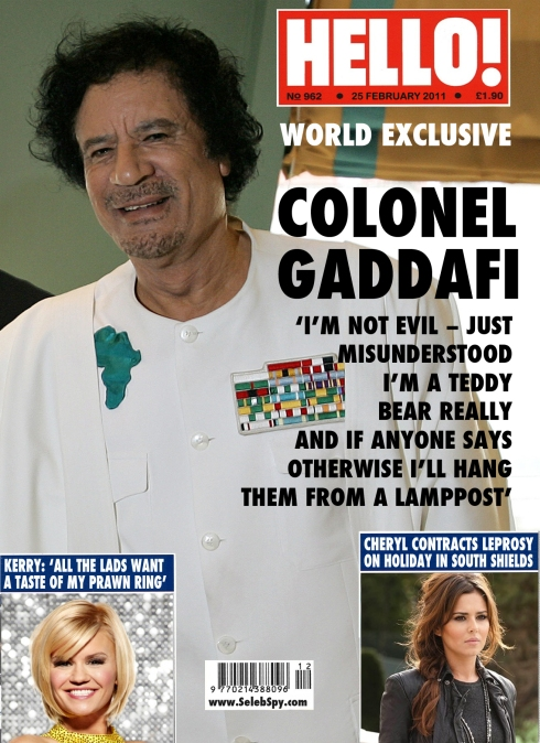 Colonel Gadaffi, Libya, Kerry Katona, Cheryl Cole, Seleb Spy 2011, Selebspy.com