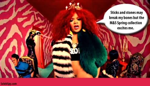 Rihanna, S&M, M&S, Marks & Spencer, Seleb Spy 2011, www.selebspy.com