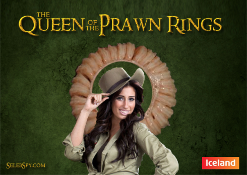 Stacey Solomon, Iceland, Prawn Ring, King Prawn Ring, Kerry Katona, Seleb Spy, SelebSpy.com 2011, X Factor